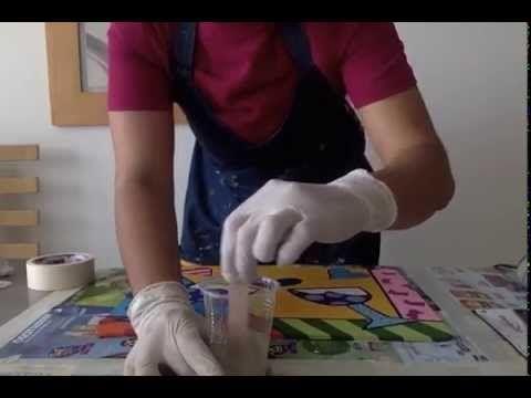 Taller de aplicación de resina en proyecto de madera country - YouTube