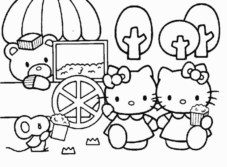 Hello Kitty Coloring Pages With Crayons : Best hello kitty coloring pages images on pinterest