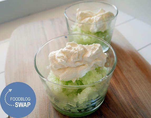 Galiameloen granita voor de foodblogswap | Foodaholic.nl
