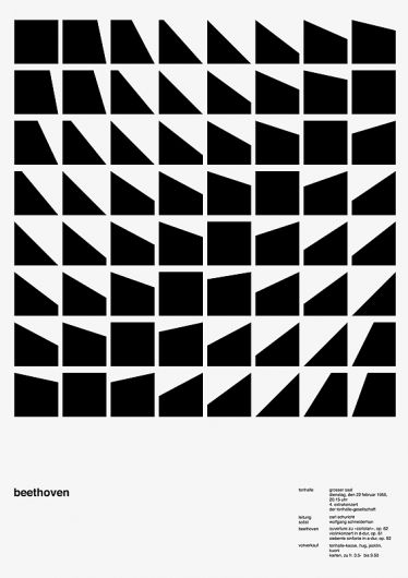 Designspiration — 100 days, a daily variation of Josef Müller-Brockmann poster | Cosas Visuales
