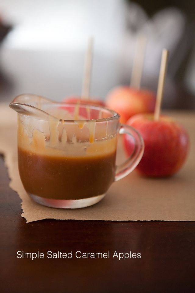 BEST caramel apple recipe ever. Go for the salted version, you won't be sorry!