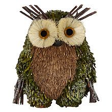 Buy John Lewis Into the Woods Festive Mossy Owl Room Decoration Online at johnlewis.com