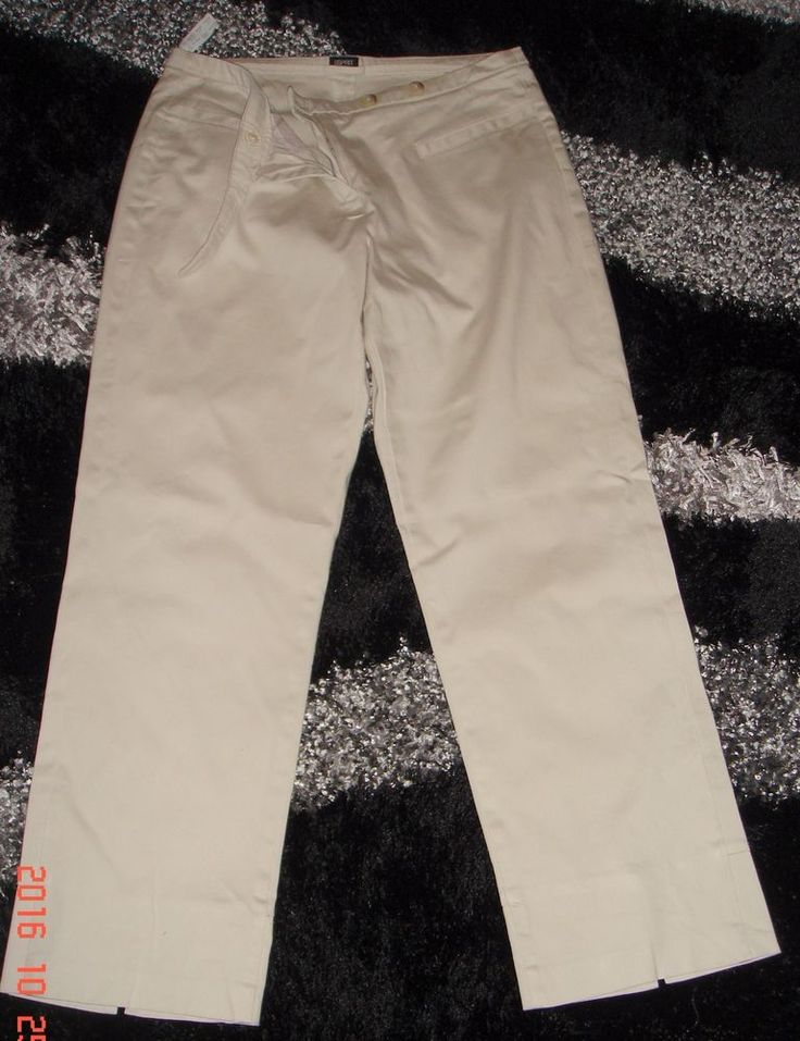 Esprit Ladies Cream Cropped Trousers Size 12 £4.99 or Best Offer Ebay Uk item No 361812218179