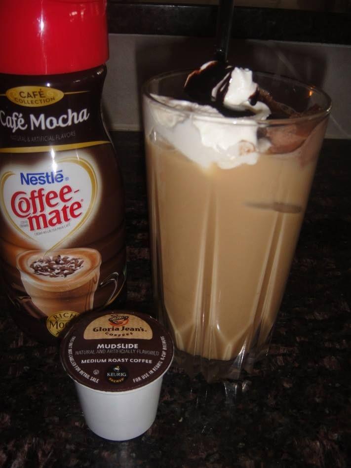 MUDSLIDE Iced COFFEE * super easy to make * Chocolate * Coffee * vanilla ice cream