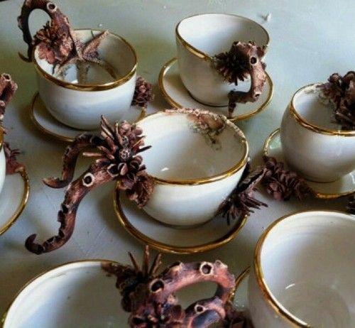 Octopus teacups