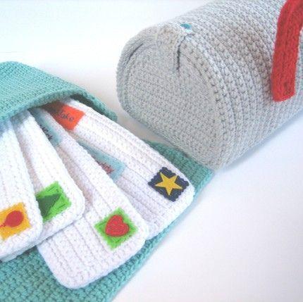 Crochet mail play set