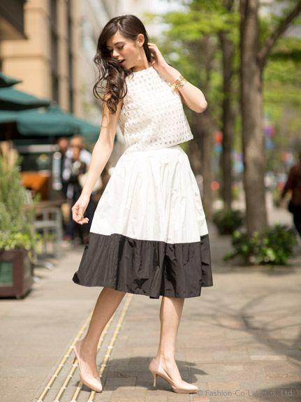 2015春夏❤可愛さ10倍増し!ミモレ丈スカートのデート服コーデ|マシマロ