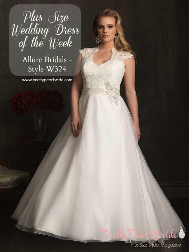 #plussize #wedding #gowns {Plus Size Wedding Dress of the Week} Allure Bridal – Style W324 | Pretty Pear Bride | http://prettypearbride.com/plus-size-wedding-dress-of-the-week-allure-bridal-style-w324/