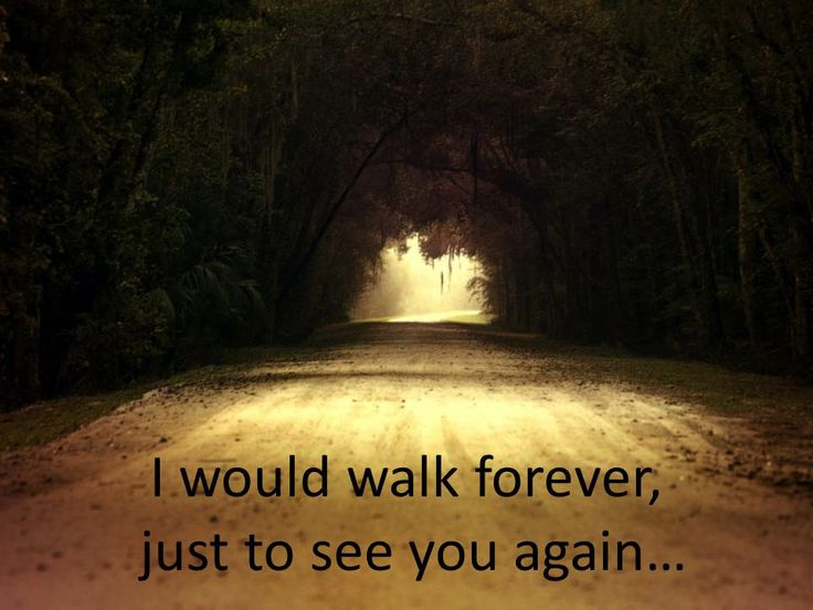 I would walk forever