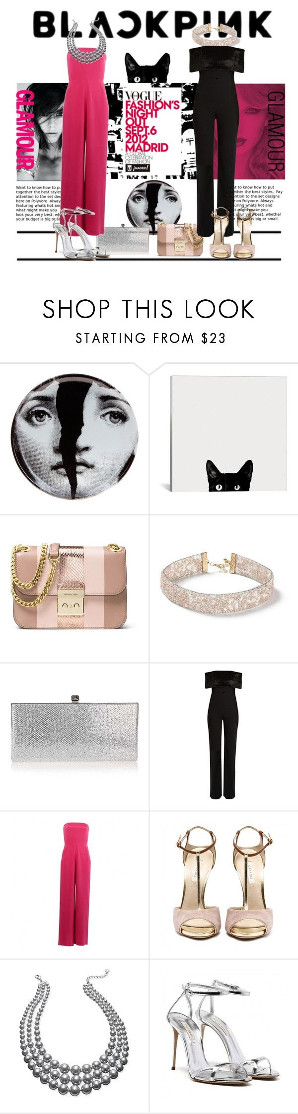 """""""Spitting Image!"""" by debjani-d ❤ liked on Polyvore featuring Fornasetti, MICHAEL Michael Kors, Miss Selfridge, Jimmy Choo, Galvan, 3.1 Phillip Lim and Charter Club"""