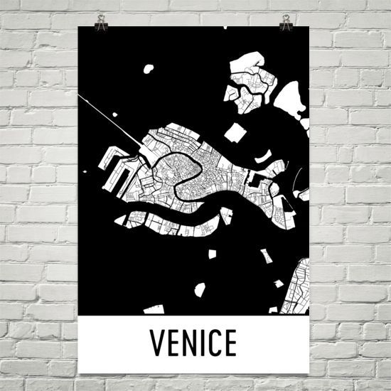 Venice Italy Map, Art, Print, Poster, Wall Art From $29.99 - ModernMapArt