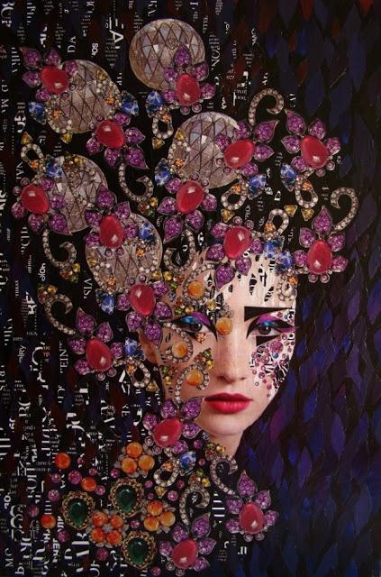 Emilia Elfe (handmade collage on canvas)