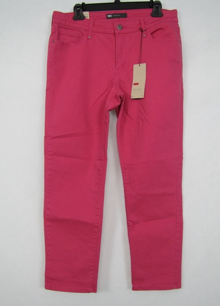 Levi's Ankle Skinny Jeans Med Rise Women's Pink Jeans Size 12 NEW #Levis #AnkleSkinny 29.99