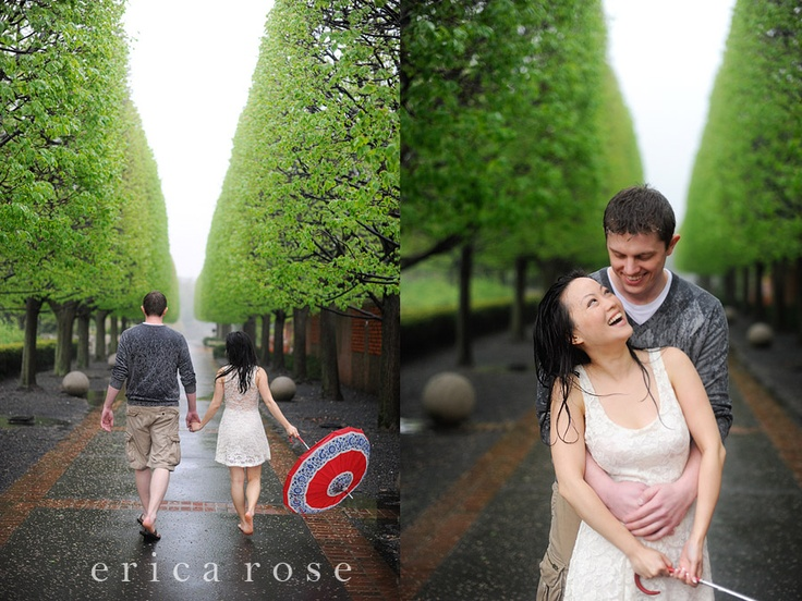 Romantic engagement session in the rain. Something I have always dreamed of shooting. eeh