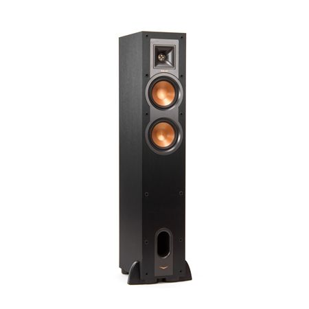 ALTAVOZ KLIPSCH R-24F. The Reference R-24F floorstanding speaker is able to fill a small to medium sized room with unparralled sound. This smaller cabinet houses dual copper woofers and a horn-loaded tweeter to deliver outstanding performance without using much floor space. #altavocessuelo #altavoces #Klipsch