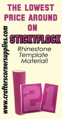 We have the lowest price around on your favorite rhinestone template material!