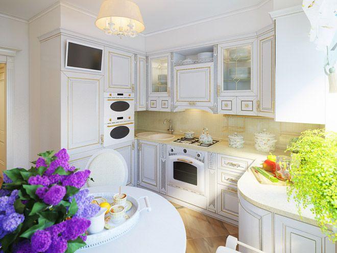 Кухня. Интерьер квартиры в стиле прованс в п. Сертолово