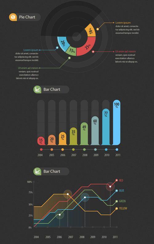 Vector Infographic Designing Elements | Vector | Design Blog