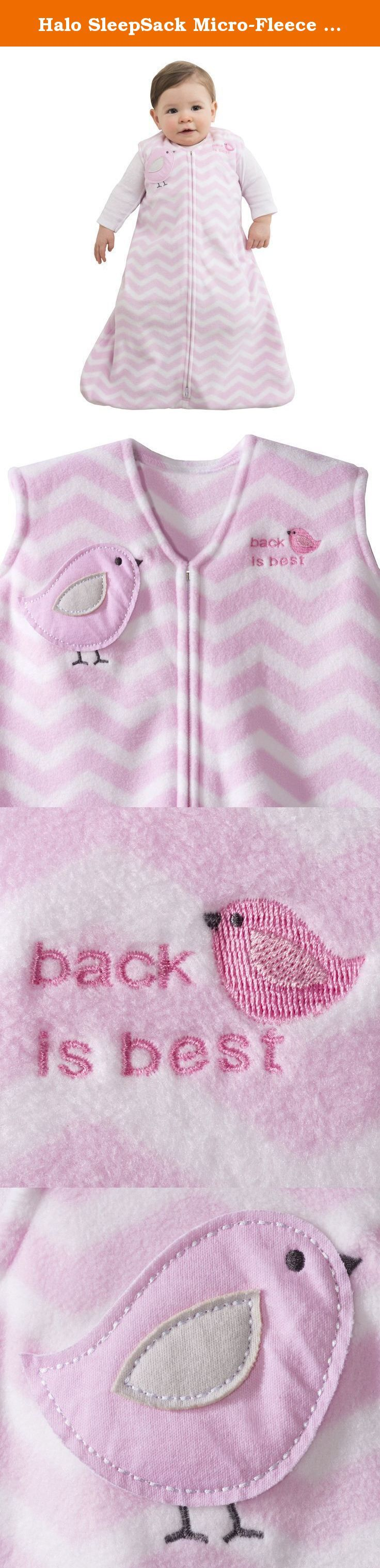 Halo SleepSack Micro-Fleece Wearable Blanket, Pink Zig Zag, X-Large. HALO SleepSack wearable blanket: The Safer Way to Sleep The HALO SleepSack wearable blanket replaces loose blankets in the crib that can cover your baby s face and interfere with breathing. In addition to helping your baby sleep safer, the HALO SleepSack wearable blanket helps your baby sleep better, too. It is a warm cuddly blanket they cannot kick off; ensuring baby sleeps soundly throughout the night. Used in hospital...