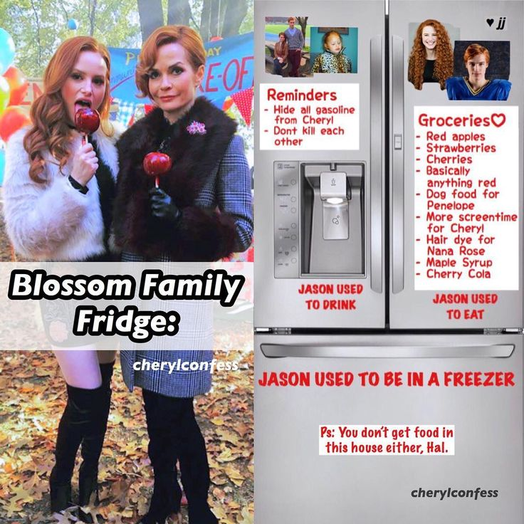 """13.8k Likes, 632 Comments - Riverdale Confessions (@cherylconfess) on Instagram: """"I thought making what's on the Riverdale families' fridges would be an interesting idea Here is…"""""""