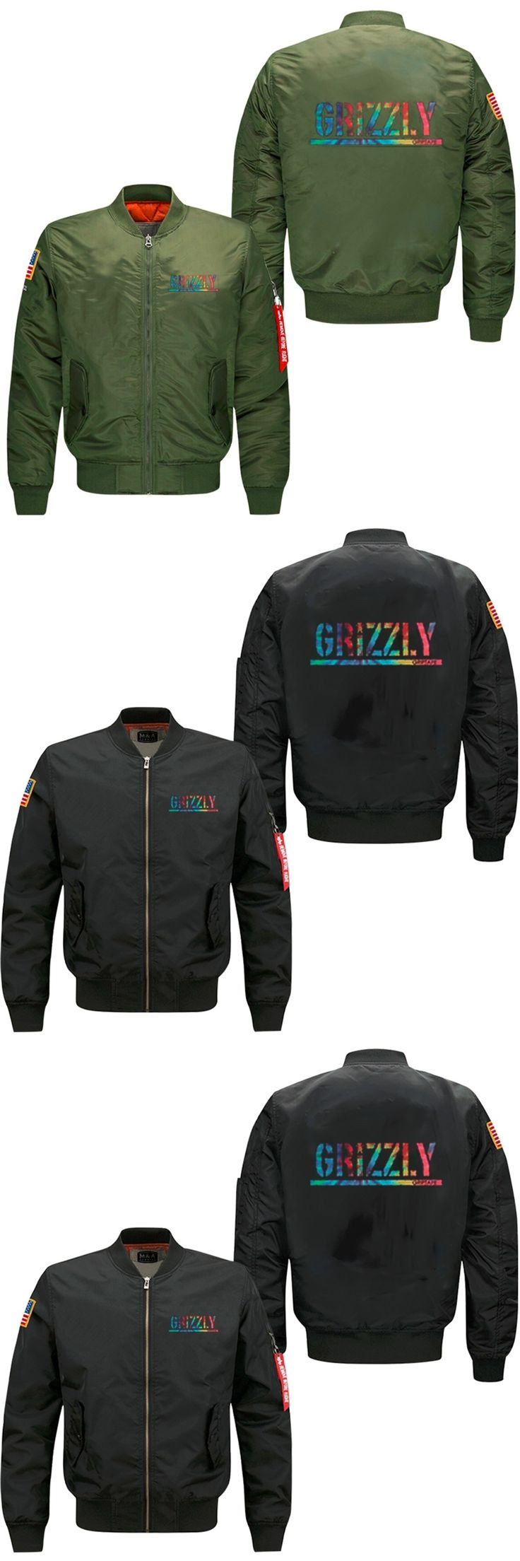 2017 GRIZZLY  spring autumn men's jacket collar code Air Force pilots jacket men's baseball uniform USA size