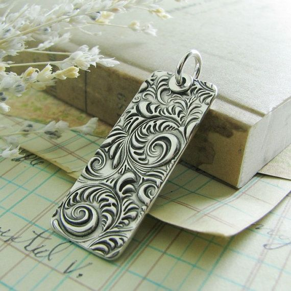 Personalized PMC Jewelry Fine Silver Pendant by SilverWishes, $72.00