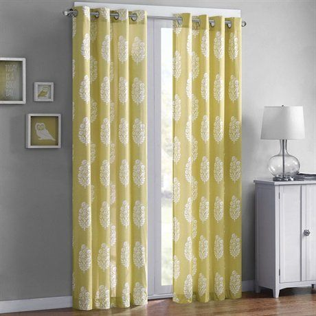Intelligent Design Adwin Printed Window Curtain Yellow 84 Panel *** More home décor info could be found at the image url.