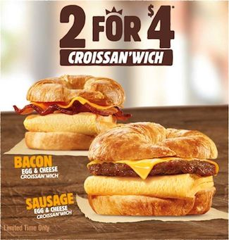 Burger King Croissan'wich promtion