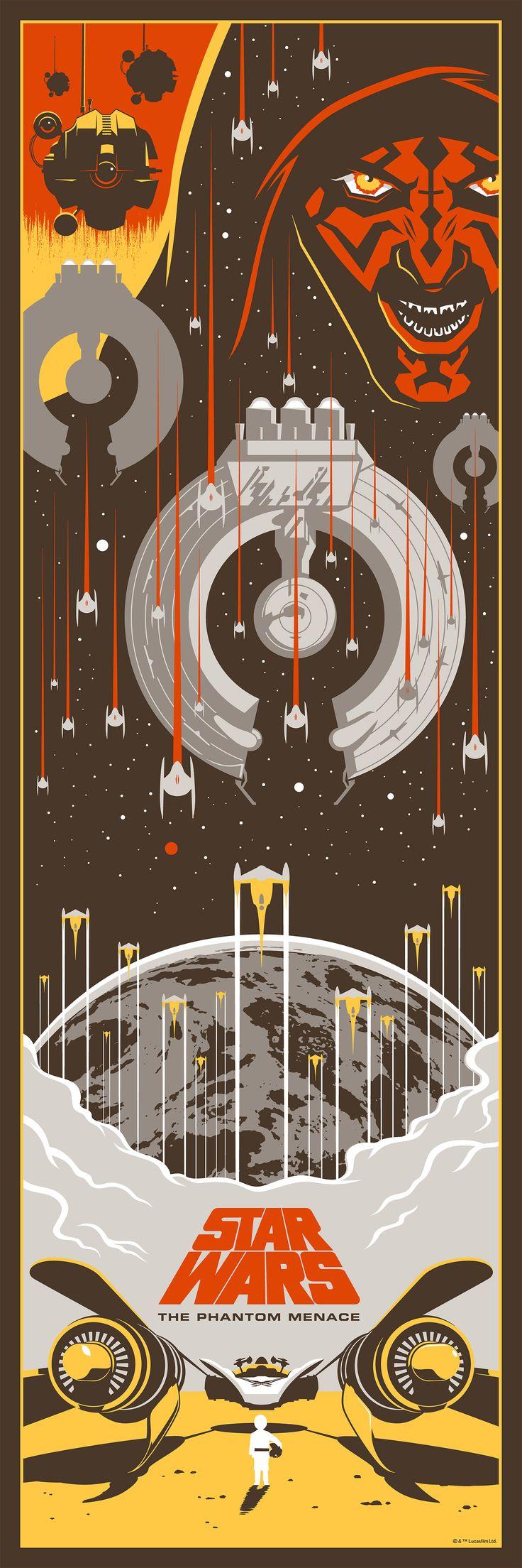 Star Wars I: The Phantom Menace, by Eric Tan #erictan #starwarsprint