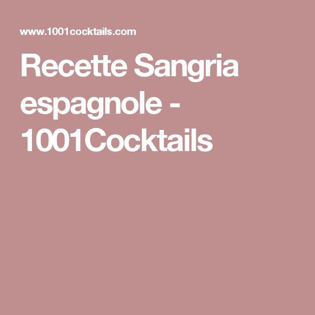 Recette Sangria espagnole - 1001Cocktails