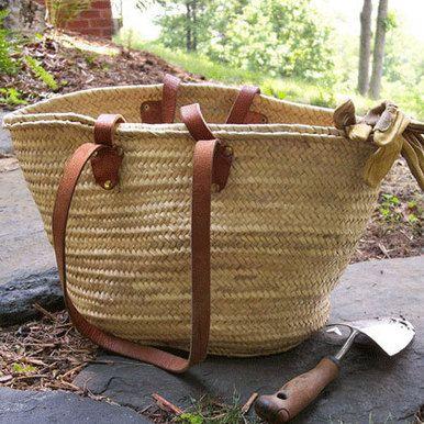 French Farmer's Market Basket's Long & Short Handles