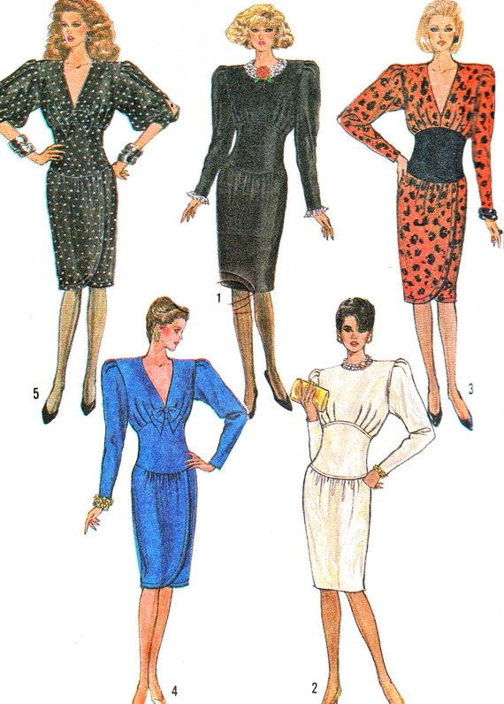 1980s Dress Pattern Simplicity 8342 Slim Skirt by paneenjerez, $12.00