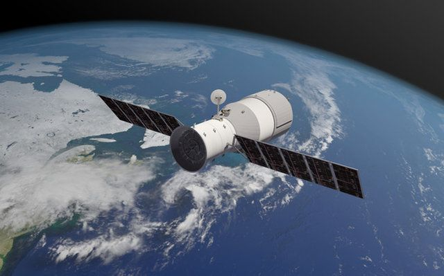 An Artist S View Of China S Tiangong 1 Space Station Prototype In Orbit Space Station Earth Atmosphere Space Lab