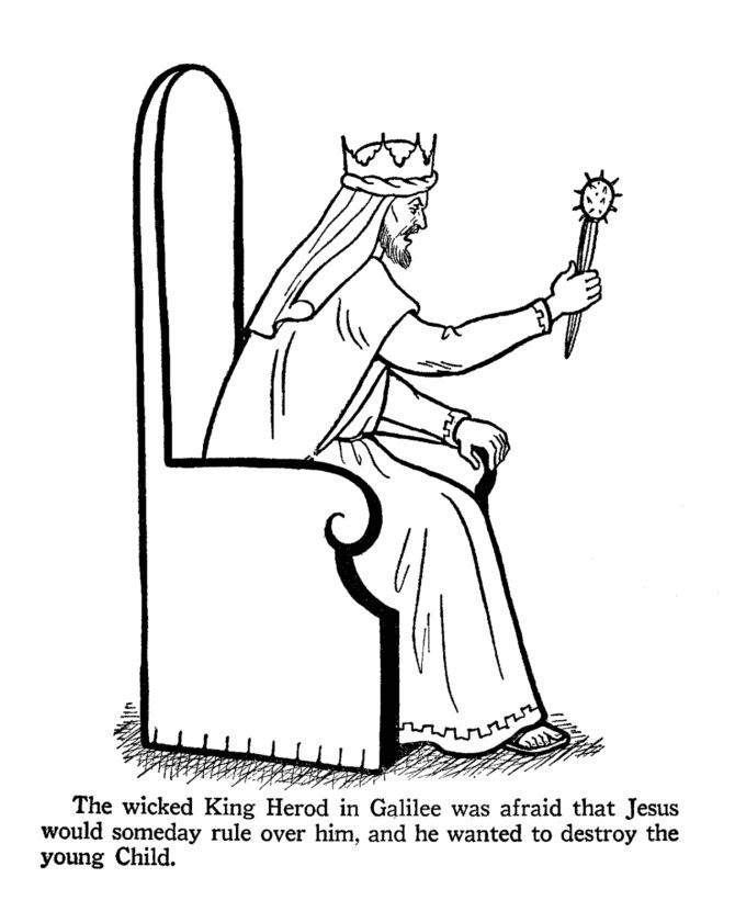 birth of christ coloring pages - king herod coloring page day 8 mystery of history i