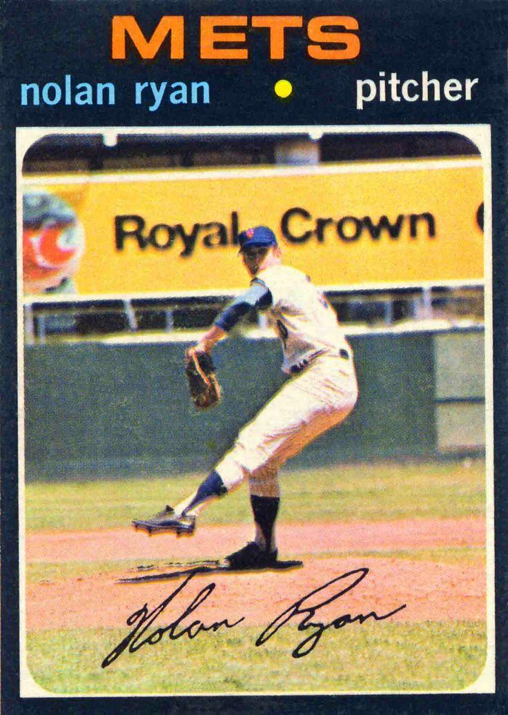 1971 topps nolan ryan baseball cards pinterest