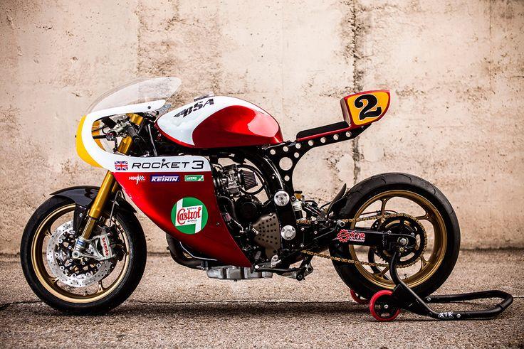 Rocket Man: A Triumph Legend TT with an endurance racer vibe by XTR Pepo