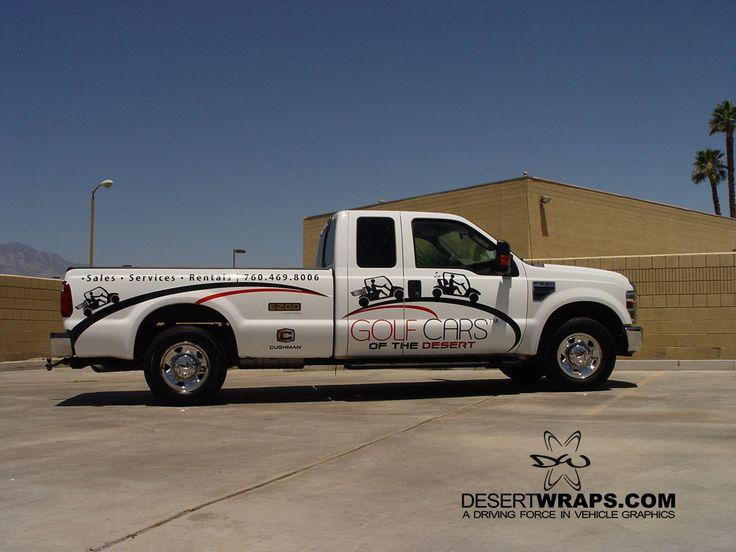 Golf Cars of the Desert high quality and high resolution vinyl wrap. Wrap install by DesertWraps.com located in Palm Desert, CA. 760-935-3600  #TruckWrap #Truck #TruckBranding #PalmDesert