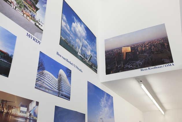 Diverse architectuurfoto's van gebouwen ontworpen door o.a. Rem Koolhaas / OMA, Ben van Berkel / UNStudio, MVRDV en René van Zuuk. © Jordi Huisman, Museum De Paviljoens