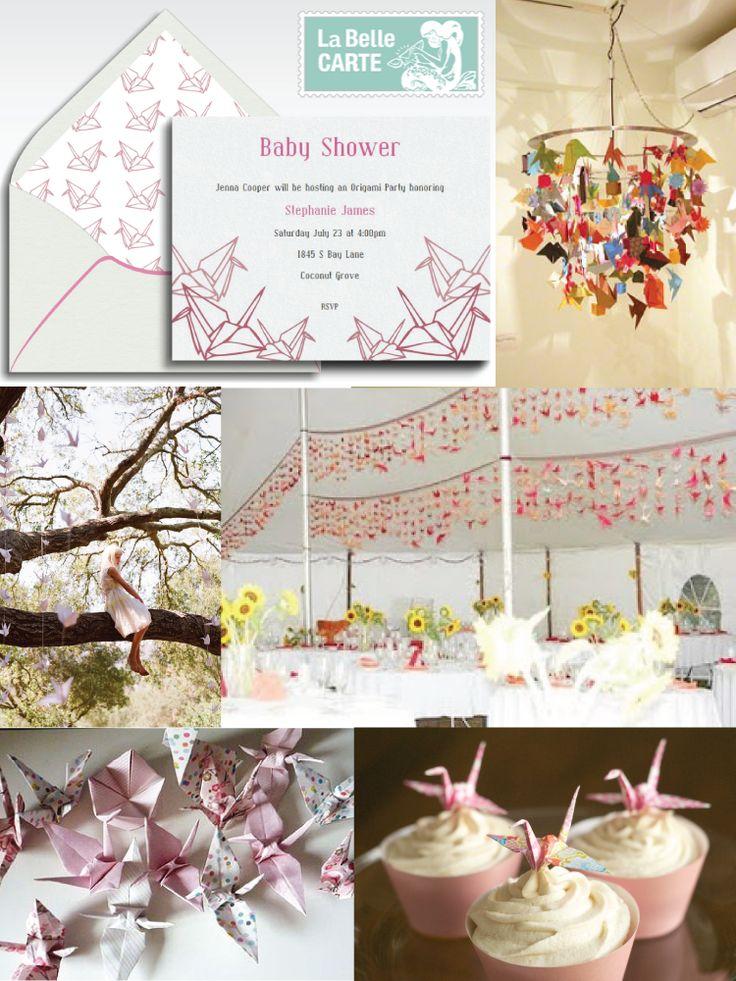 Baby Shower, Online baby shower invitations, Origami Baby Shower, Invitaciones de baby shower origami - La Belle Carte