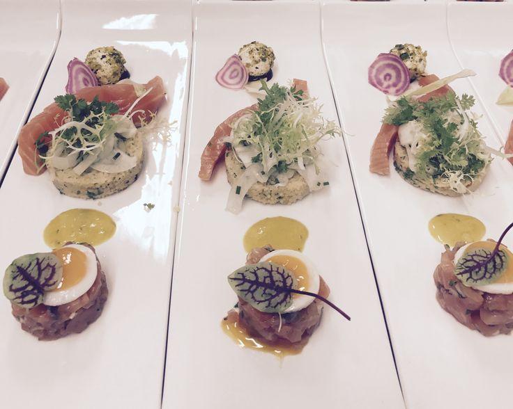 Steaktartaar trio #voorgerecht #diner #foodporn. Food Jazz Dj's Culinair evenementenbureau