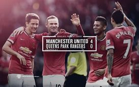 Barclays Premier League Match 4 : MU 4-0 QPR (Di Maria 24', Herrera 36', Rooney 44', Mata 58') 14 September 2014 - Old Trafford