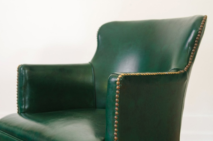 Vintage Emerald Green Accent Chair