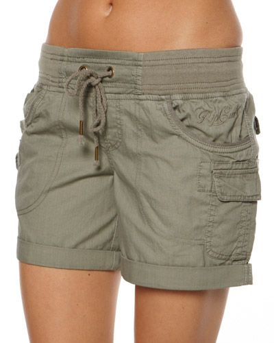 SURF DIVE 'N' SKI - WOMENS - SHORTS - CARGO SHORTS - ALMOST FAMOUS SHORT BY RIP CURL IN VETIVER
