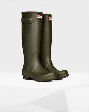 Hunter Women's Original Tall Wellington Boot Dark olive