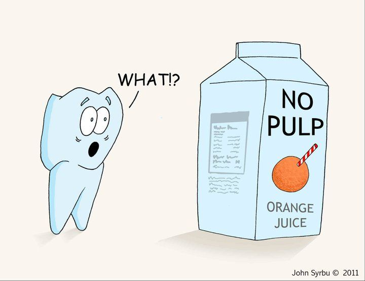 Hehe. Tooth 'pulp' is vital in keeping the tooth alive and healthy its the heart of the tooth!