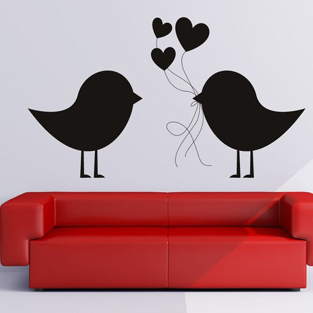 Buy now DCTOP Removable Loving Birds Wall Sticker Carrying Hearts Sweet And Romantic Lover'S Bedroom Living Room Home Decor just only $3.42 - 8.12 with free shipping worldwide  #wallstickers Plese click on picture to see our special price for you