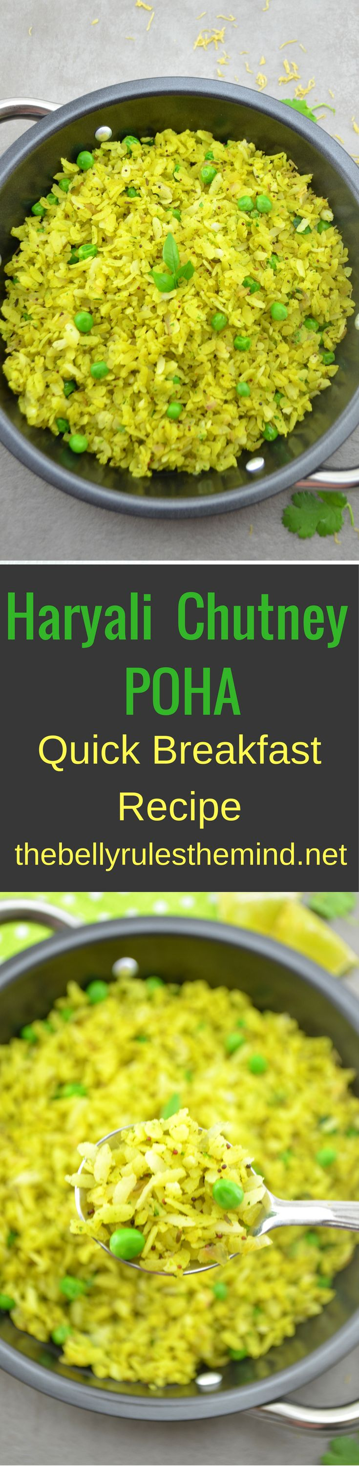 Poha/flattened rice or beaten rice is probably the most popular breakfast or quick evening snack .There are so many recipes of making poha and each family has their own way of making it >>>>Check out our version www.bellyrulesthemind.net