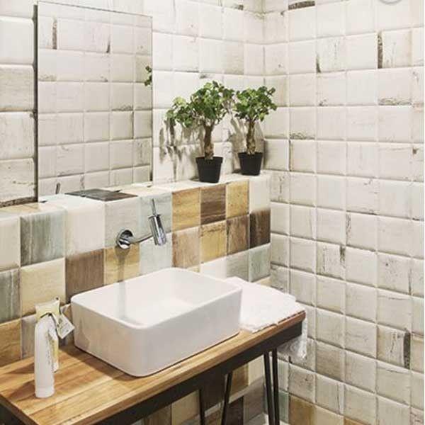 Soho Blanco Glazed Ceramic Wall Tile 150x150mm - Decorative Tiles