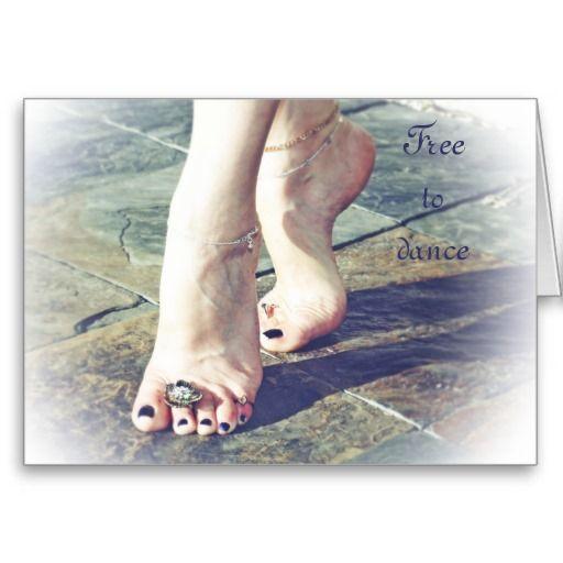"Innocence & Beauty series by Rachel Jacobs, ""Free to dance"" card"