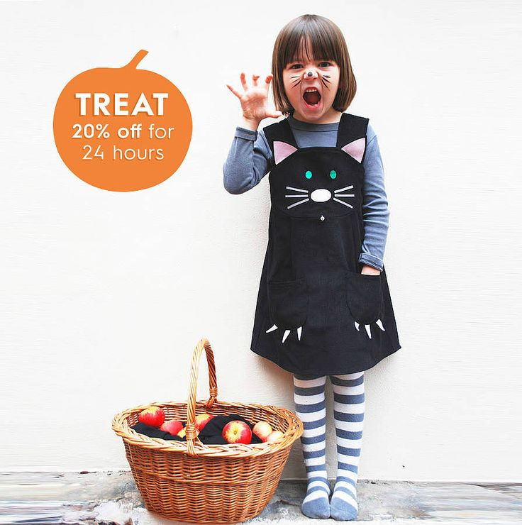 girl's cat dress costume by wild things funky little dresses | notonthehighstreet.com